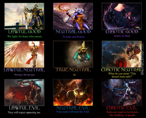 League Of Memes, Alignment.