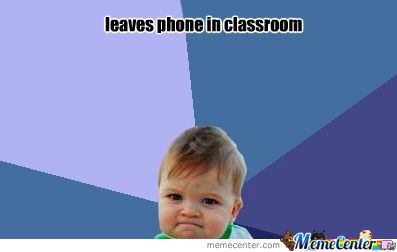 Leaves Phone In Classroom