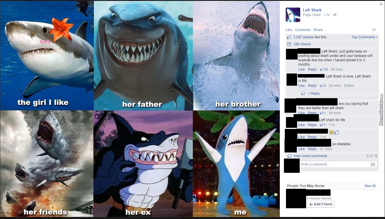 Top Shark Left Meme