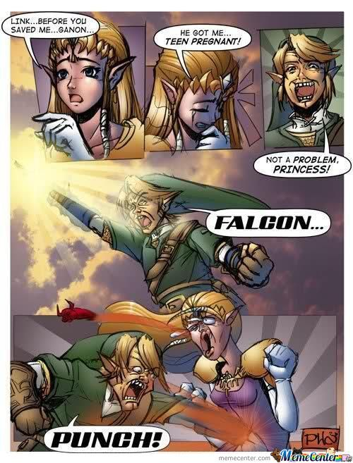 Legend Of Zelda - Falcon Punch