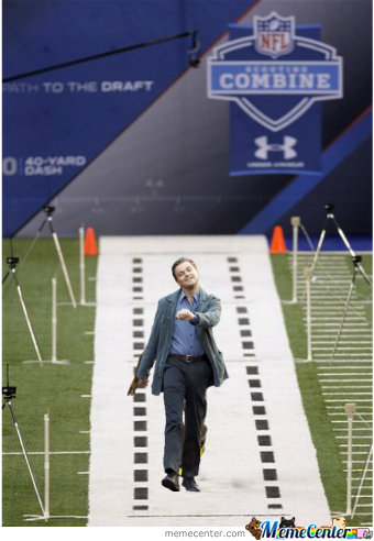 Leo Runs At The Nfl Combine