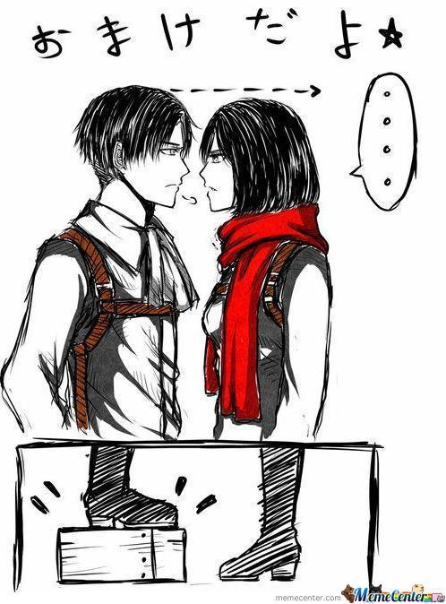 Levi And Mikasa Face To Face By Rob Lucci Meme Center