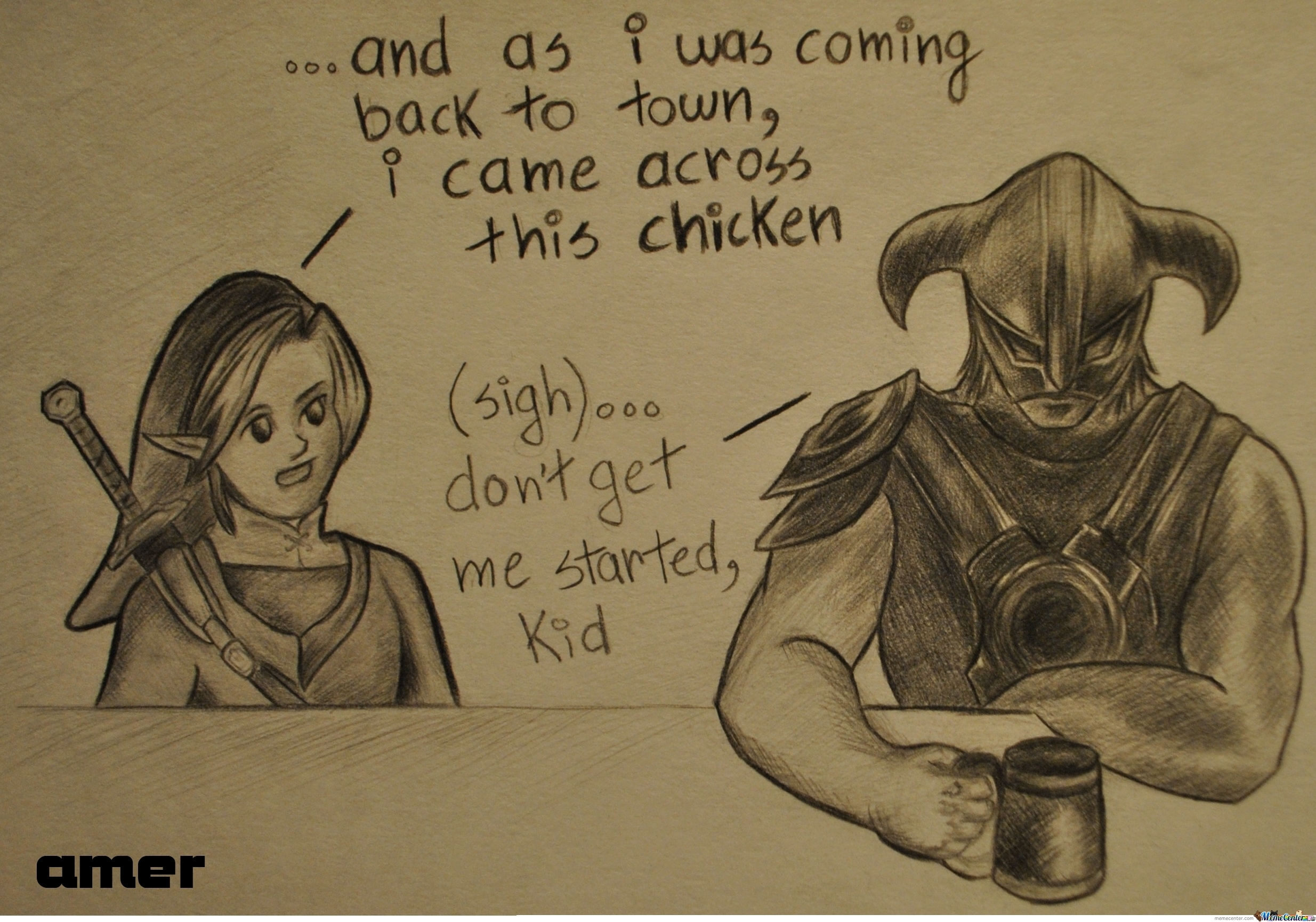 Link And Dragonborn Sharing War Stories