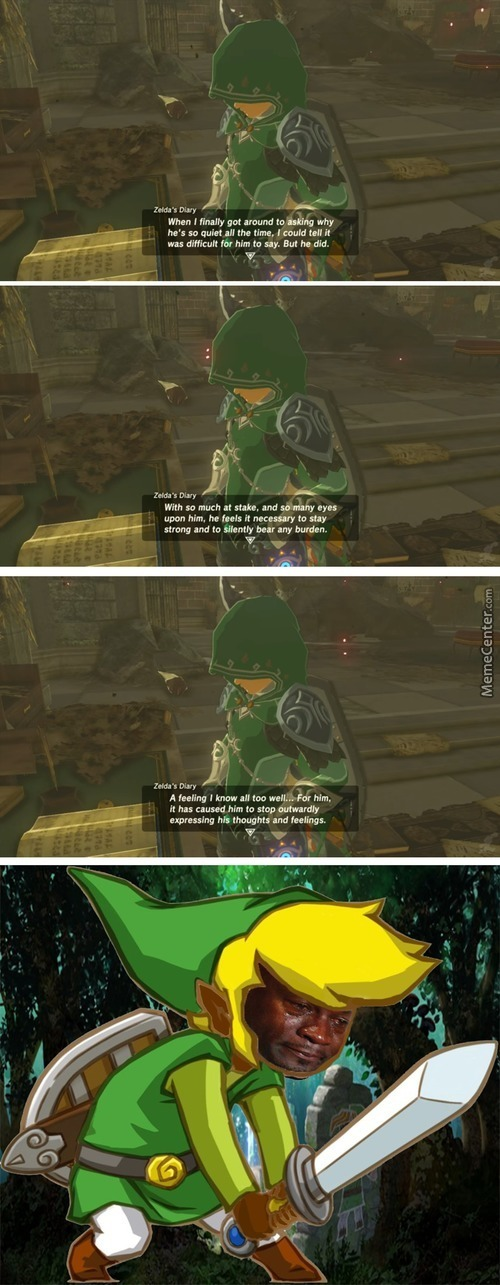 Link Is Crying Deeply On The Inside
