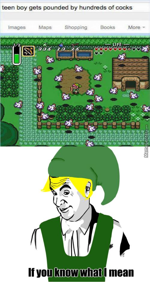 Link, You Naughty Boy.