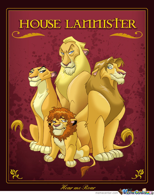 Lion King & Game Of Thrones Crossover