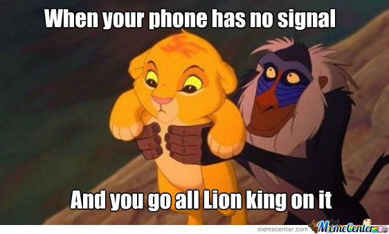 Lion King Phone Signal