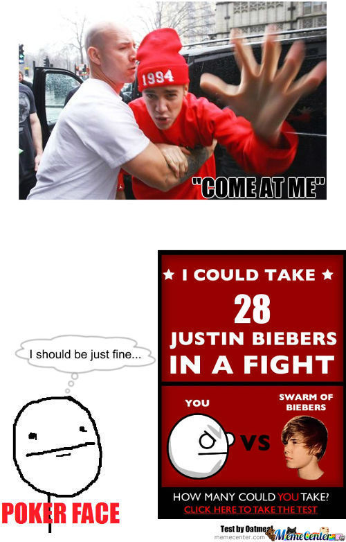 Little Miss Bieber Wants To Fight