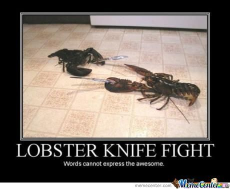 Lobster Knife Fight!