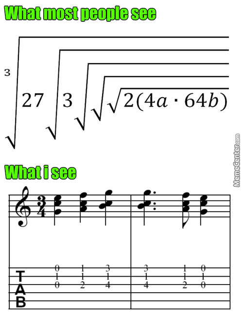 Look At All These God Damn Square Roots, How Can You Not Think Of Musical Notations?