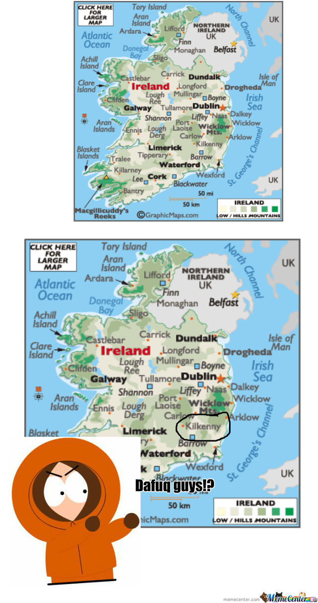 Looking At A Map Over Ireland When...