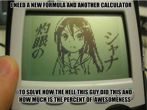 Looks Like My Calculator Likes Anime Too.