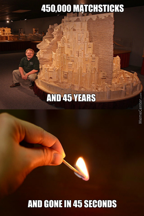 Lord Of The Rings Replica Made By Matchsticks Looks Awesome!