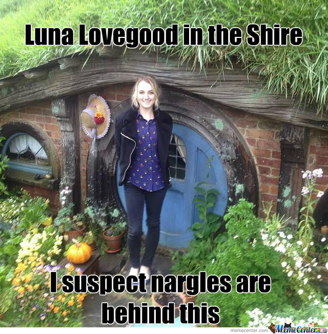 luna lovegood in the shire hplotr crossover by blake