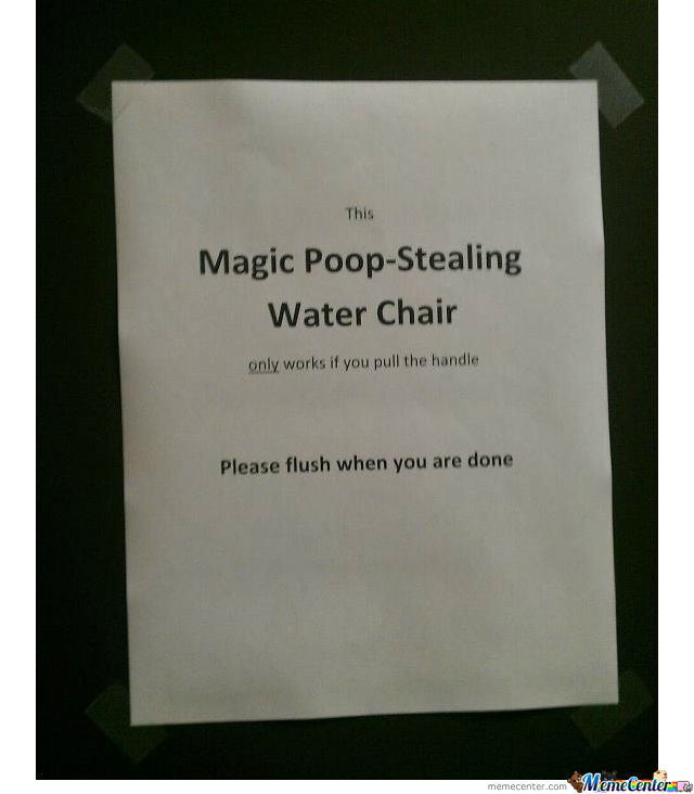 Magical Poop-Stealing Water Chair