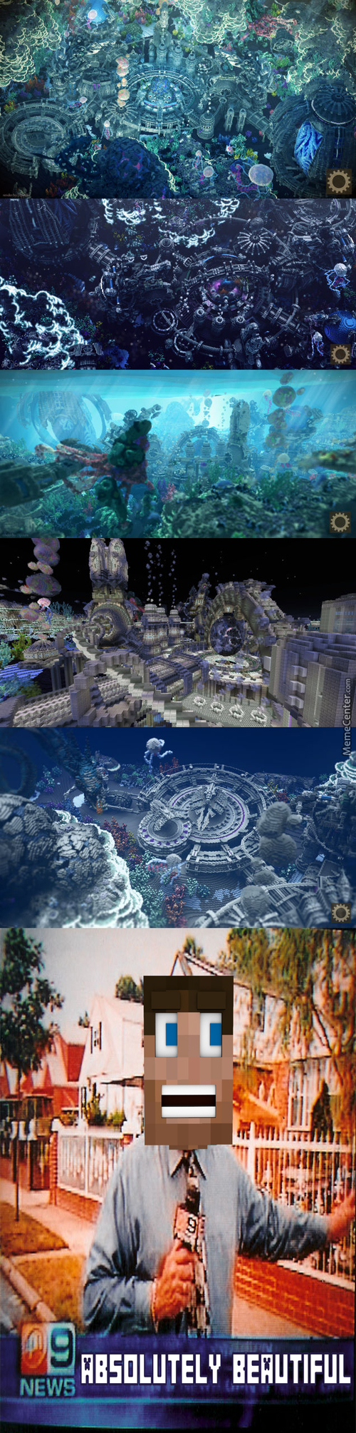 Majestic Deep Sea Worlds Build In Minecraft
