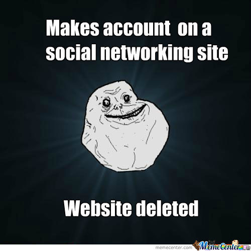 Makes Account On A Social Networking Site