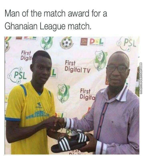 Man Of The Match Award For A Ghanaian League Match.
