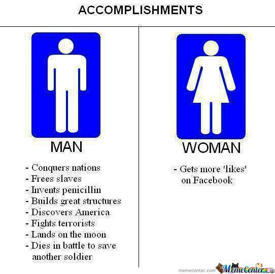 Man Vs Woman... True!