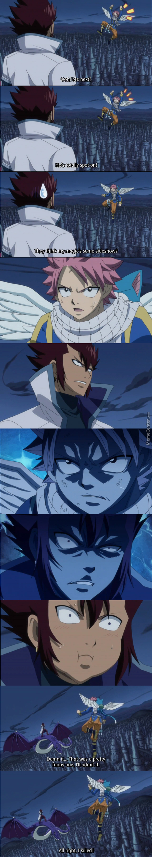 Many Years Have Passed And We Still Haven't Heard The Joke...(Contex: Blackhaired Guy, Cobra, Can Hear People's Thoughts) -Fairy Tail