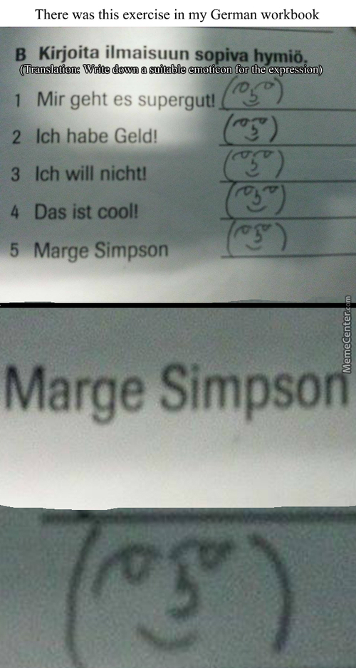 Marge Simpson Is An Expression?