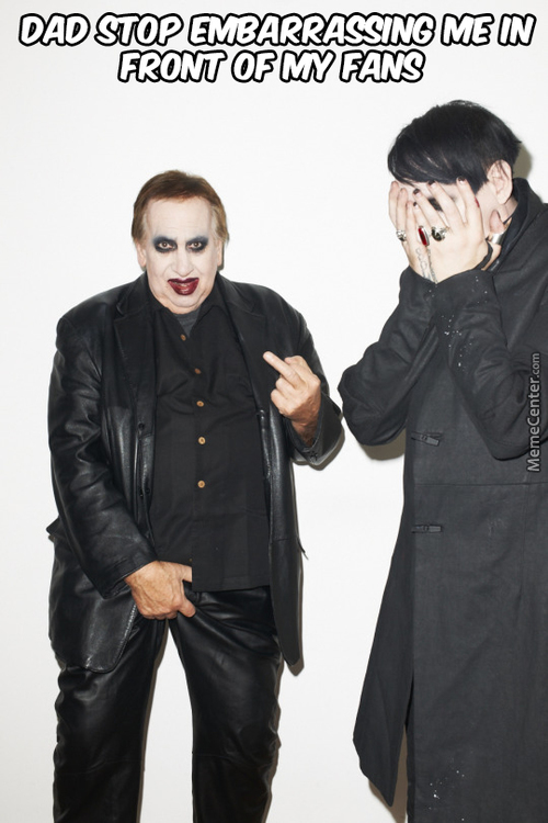 Marilyn Manson And His Dad