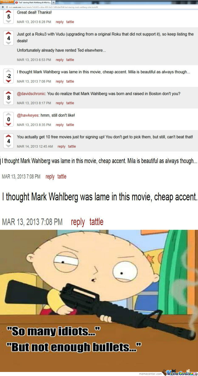 Mark Wahlberg's Boston Accent In Ted