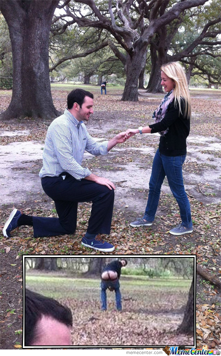 Funny Marriage Proposal Meme : Marriage proposal photobomb by robertormx meme center