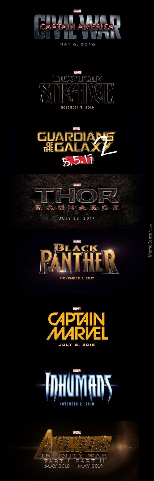 Marvel Movie Lineup *heavy Breathing*