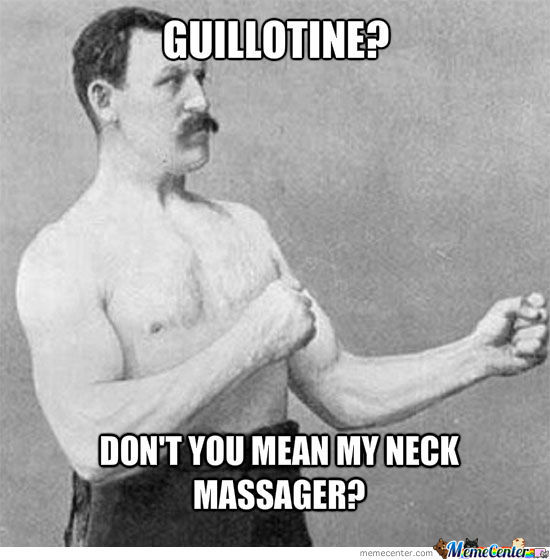 Overly manly man's massage