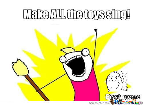 Me On Christmas When I See Battery Operated Toys In Le Store