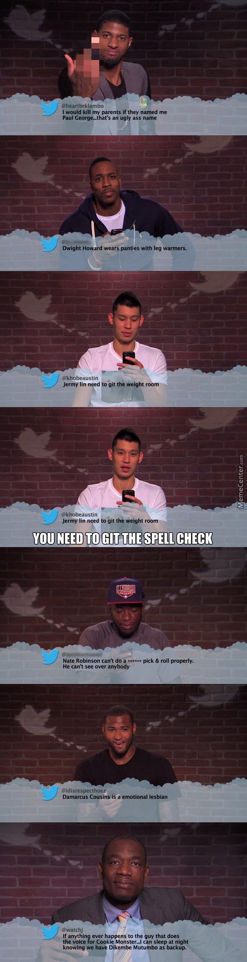 Mean Tweets Nba Edition, Just The Ones I Liked
