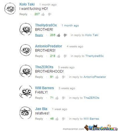 Meanwhile At The Youtube Comment Section...