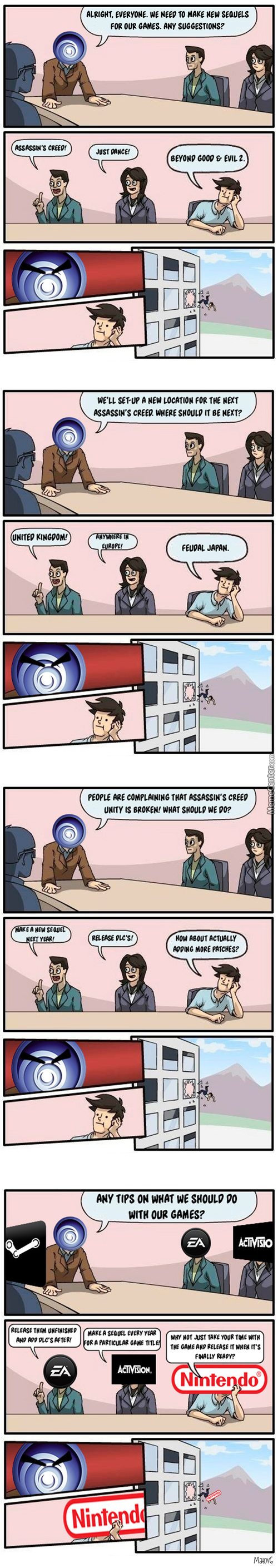 Meanwhile, At Ubisoft Headquarters...