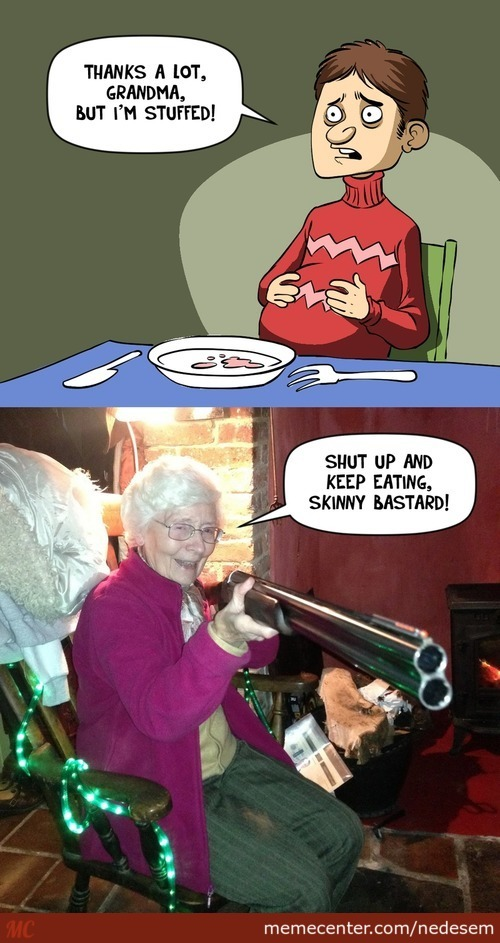 Meanwhile In All Grandmas' Houses