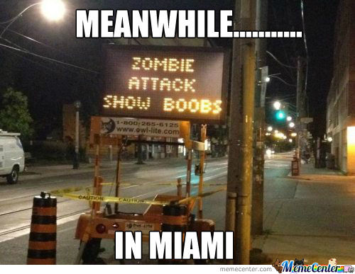Meanwhile In Miami.......