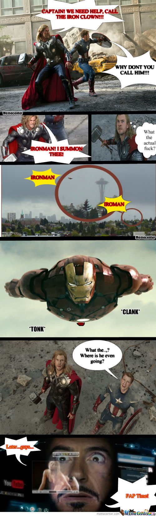 Meanwhile In The Avengers...