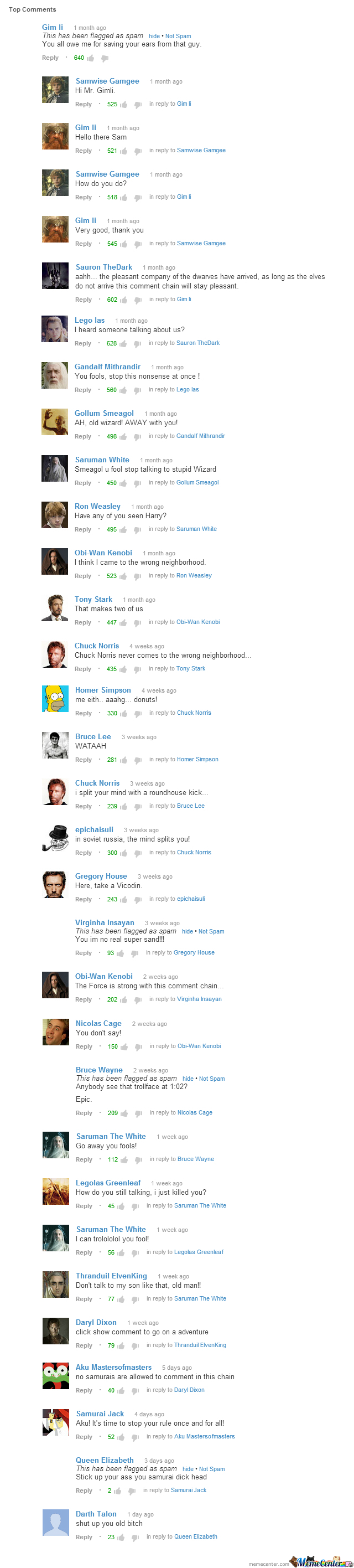 Meanwhile, In The Youtube Comment Section