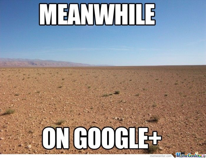 Meanwhile On Google+
