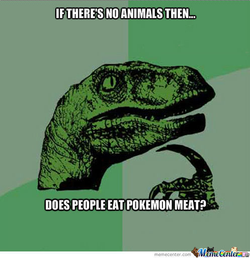 Meat Eating... In Pokemon World...