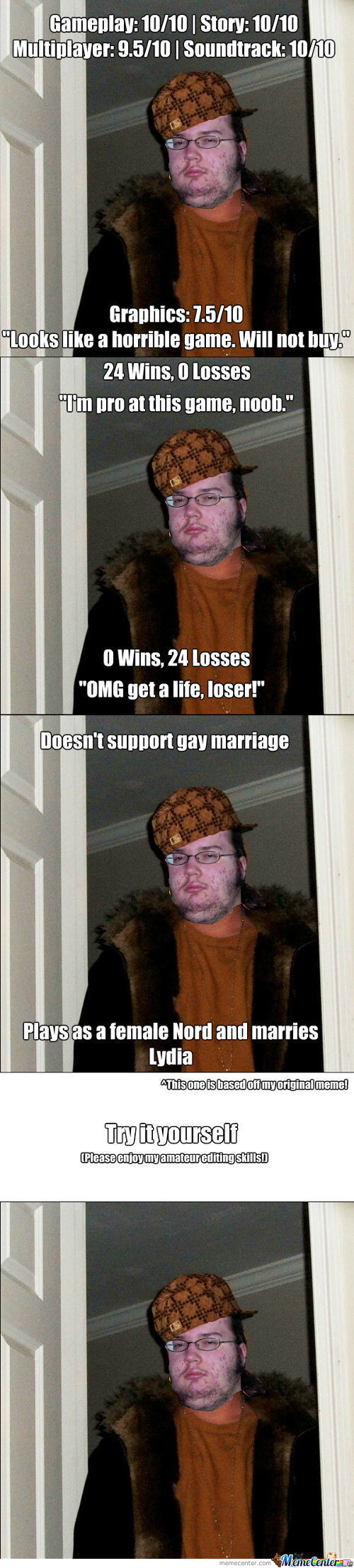 Meme Idea: Scumbag Gamer