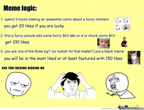 "(a) and (b) ""Impact"" frame / ""Convinced"" logic memes ... 