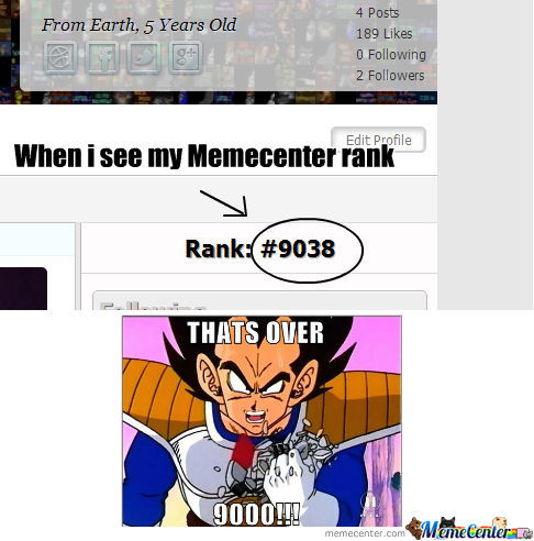 Meme Rank Over 9000