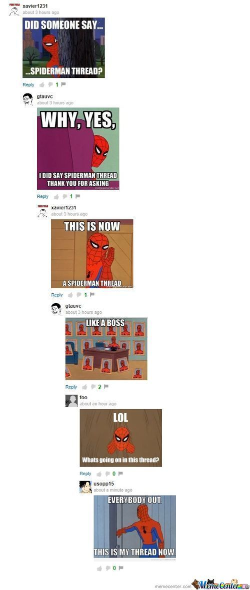 Memecenter Comments Vs Spiderman