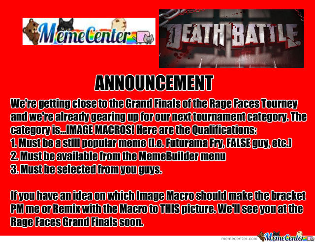 Memecenter Death Battle Announcement