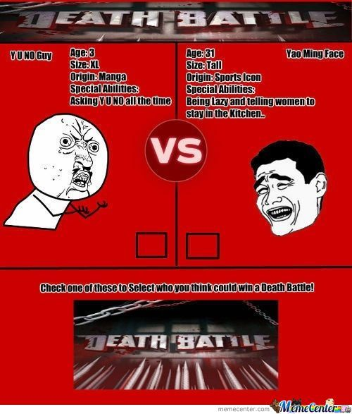 Memecenter Death Battle: Round 1