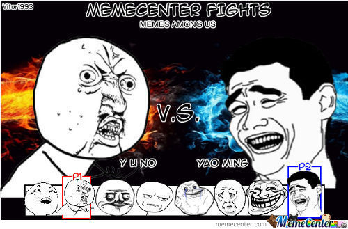 Memecenter Fights: Memes Among Us
