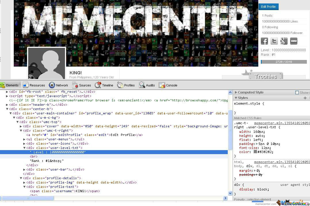 Memecenter Hacking!