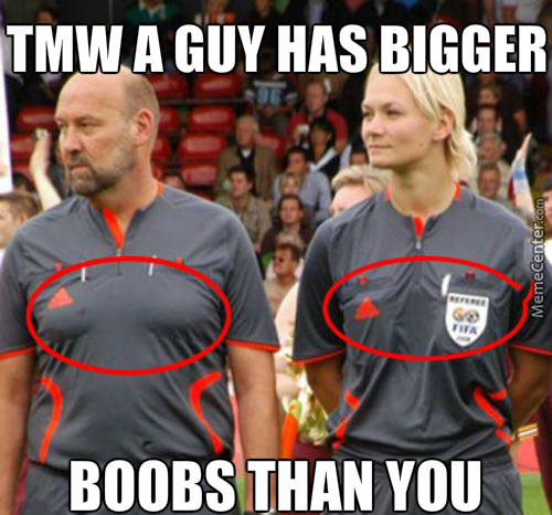 Men Has Bigger Boobs