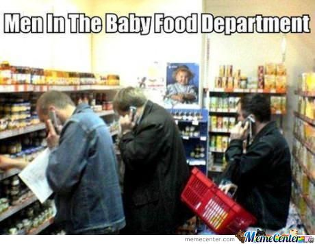 Men In Baby Food Department